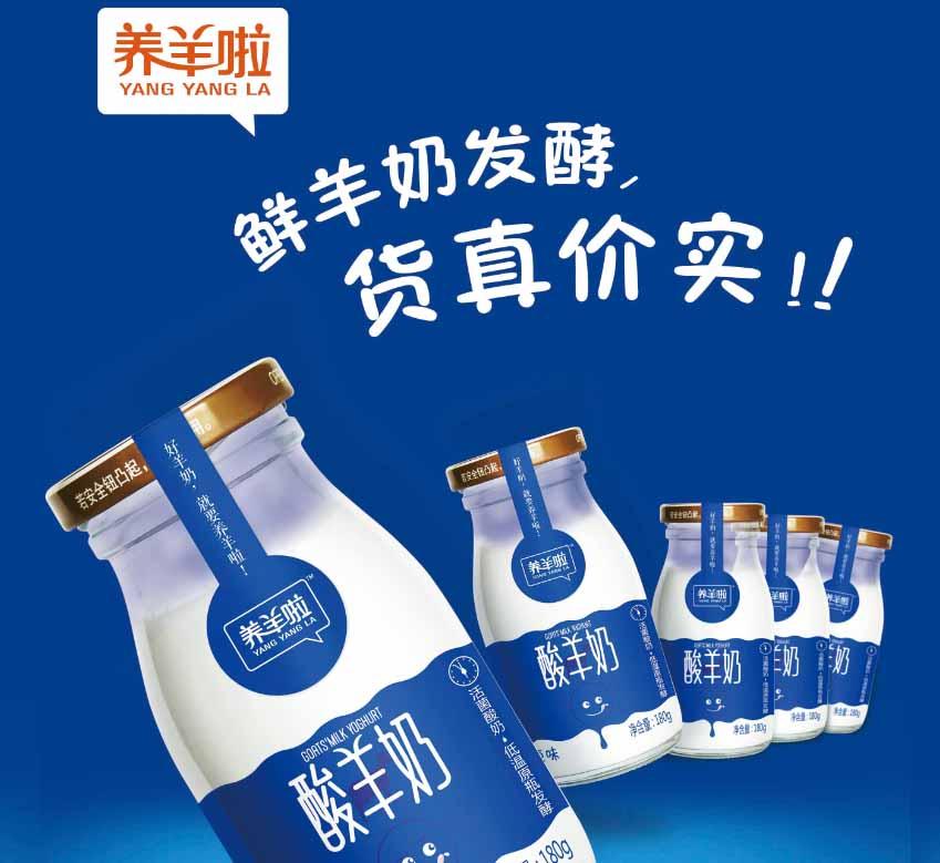 养羊啦羊酸奶,世界羊乳加工样板工厂生产